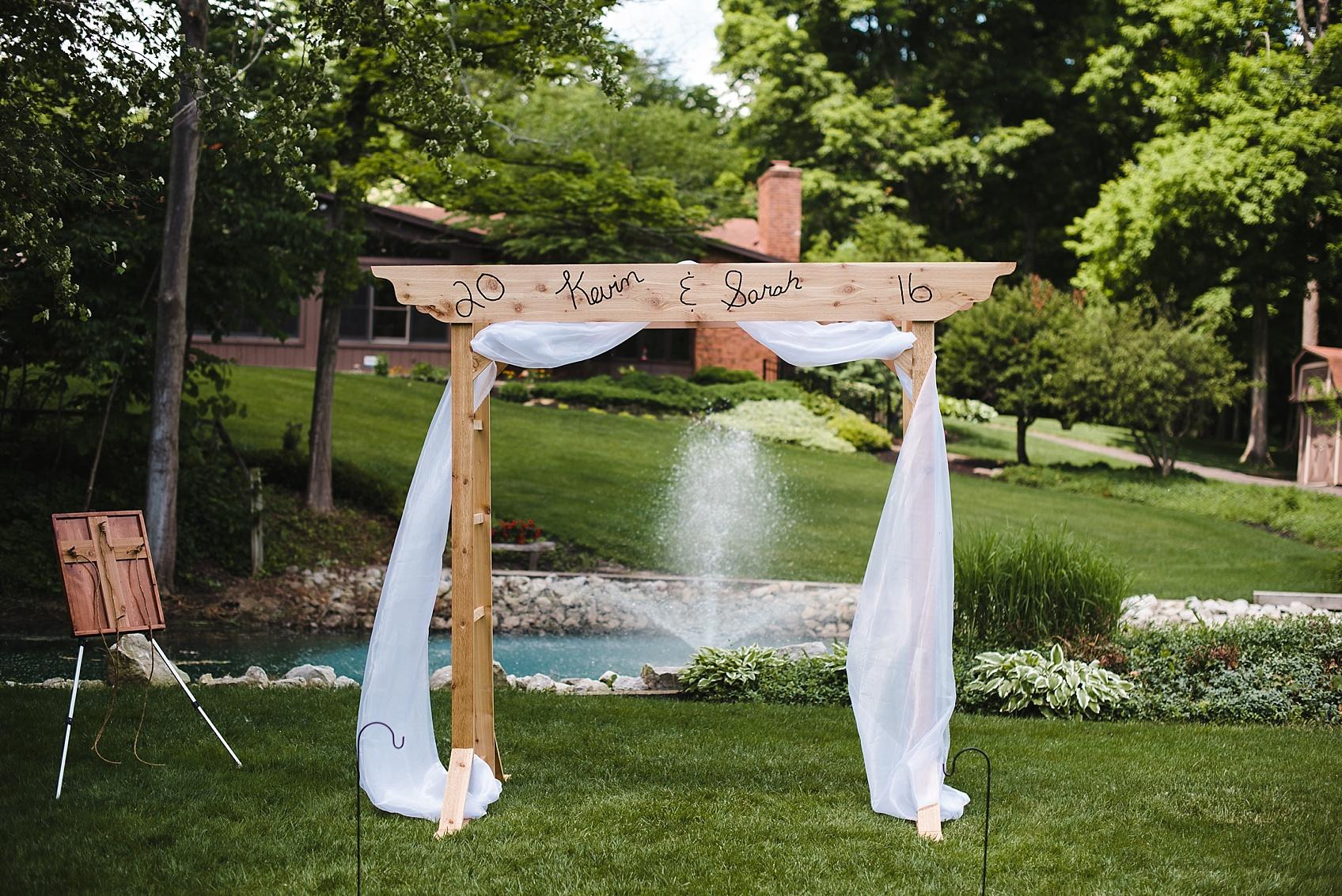 a backyard summer wedding