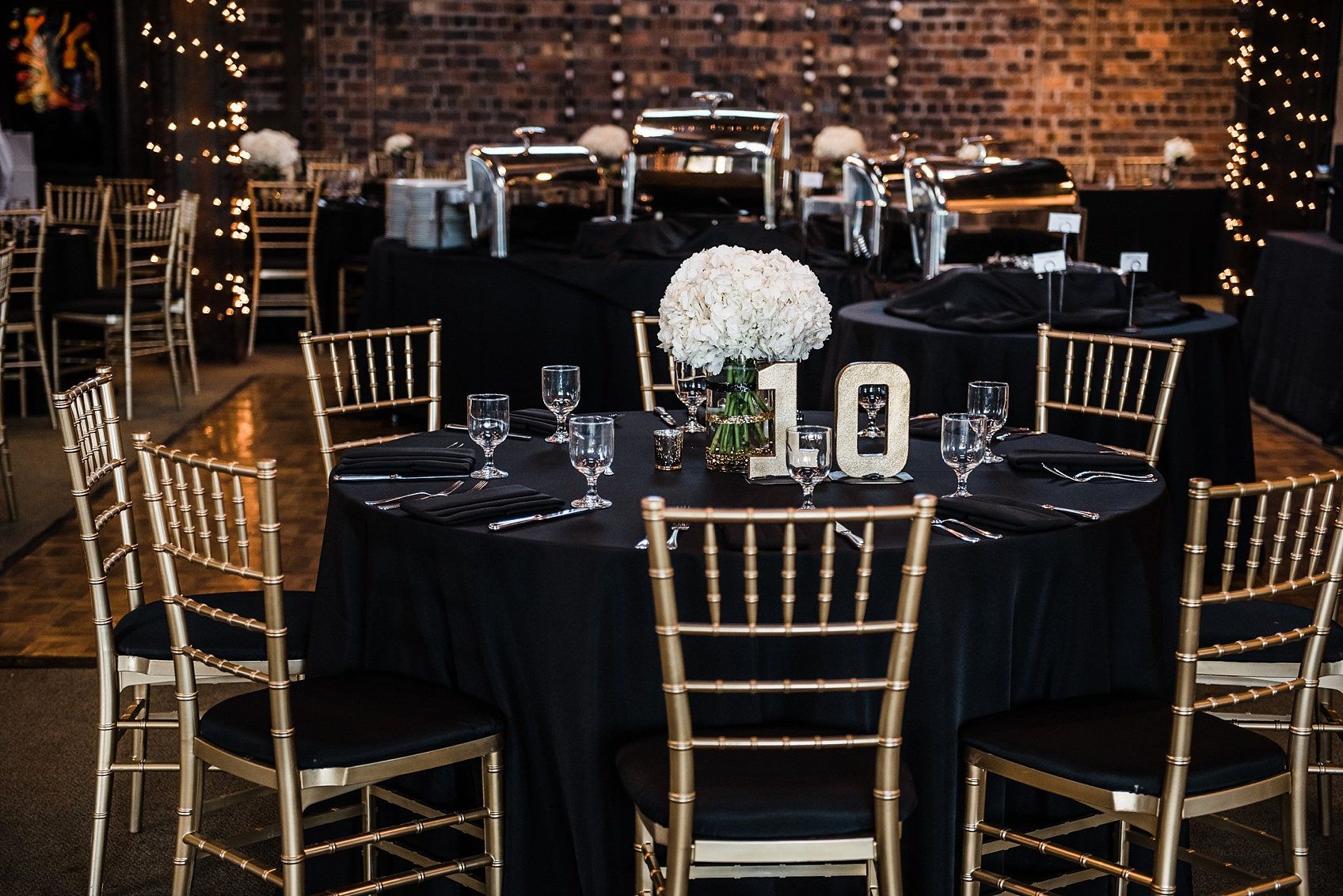 John Stephanie A Black And Gold Dock 580 Wedding Ashley D